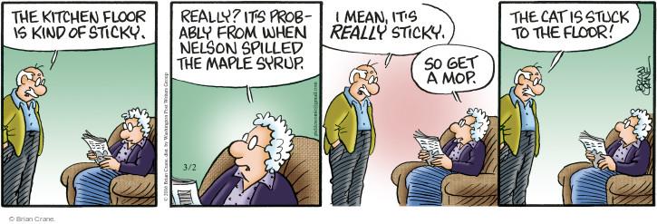 Comic Strip Brian Crane  Pickles 2016-03-02 mop
