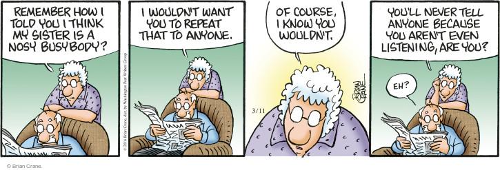 Comic Strip Brian Crane  Pickles 2016-03-11 busy