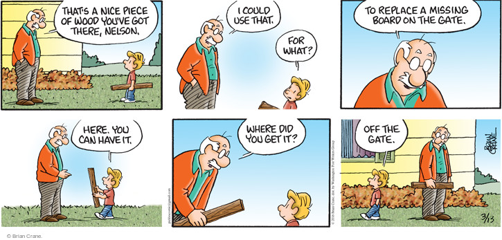 Comic Strip Brian Crane  Pickles 2016-03-13 miss