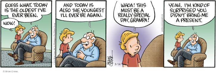 Comic Strip Brian Crane  Pickles 2016-03-14 childhood
