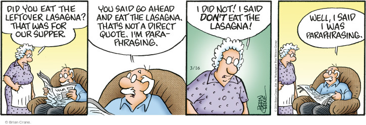 Comic Strip Brian Crane  Pickles 2016-03-16 directions