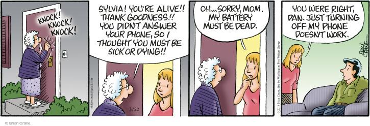 Comic Strip Brian Crane  Pickles 2016-03-22 thank goodness
