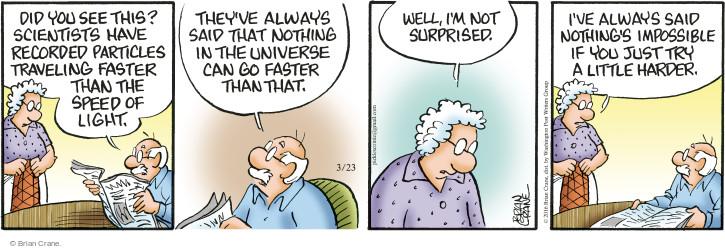 Comic Strip Brian Crane  Pickles 2016-03-23 recording