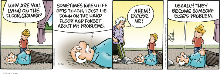 Comic Strip Brian Crane  Pickles 2016-03-24 ahem