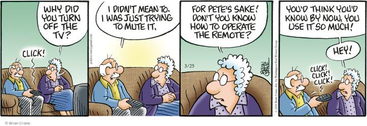 Comic Strip Brian Crane  Pickles 2016-03-25 remote