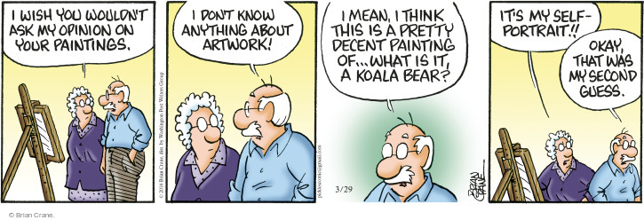 Comic Strip Brian Crane  Pickles 2016-03-29 painting