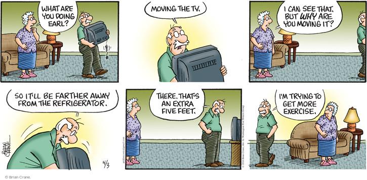 Comic Strip Brian Crane  Pickles 2016-04-03 distance