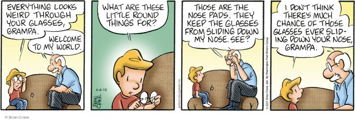 Comic Strip Brian Crane  Pickles 2016-04-04 eyesight