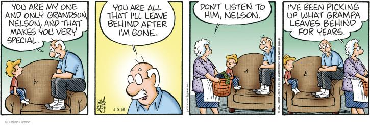 Comic Strip Brian Crane  Pickles 2016-04-09 housekeeping