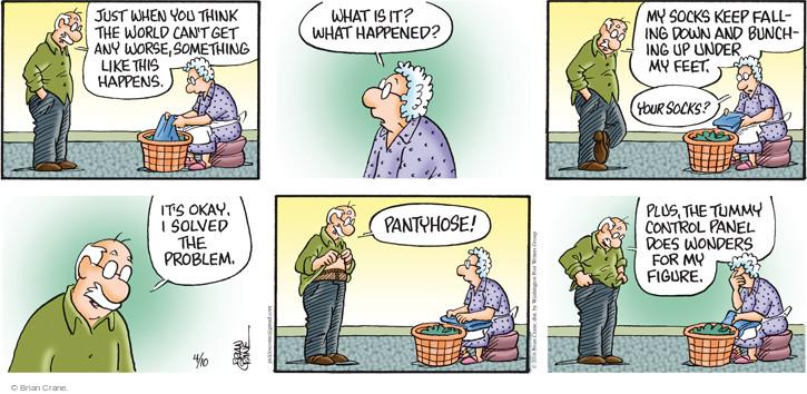 Comic Strip Brian Crane  Pickles 2016-04-10 sock