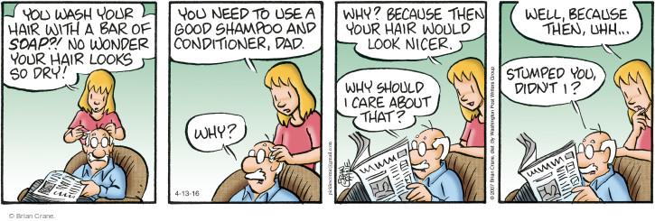 Comic Strip Brian Crane  Pickles 2016-04-13 hygiene