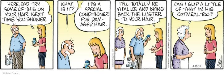 Comic Strip Brian Crane  Pickles 2016-04-15 health care