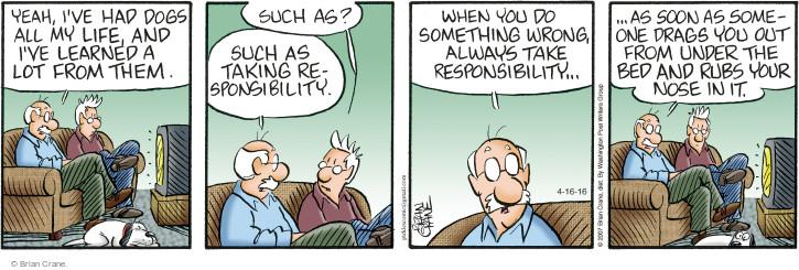 Comic Strip Brian Crane  Pickles 2016-04-16 rub