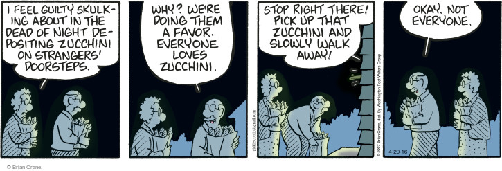 Comic Strip Brian Crane  Pickles 2016-04-20 zucchini