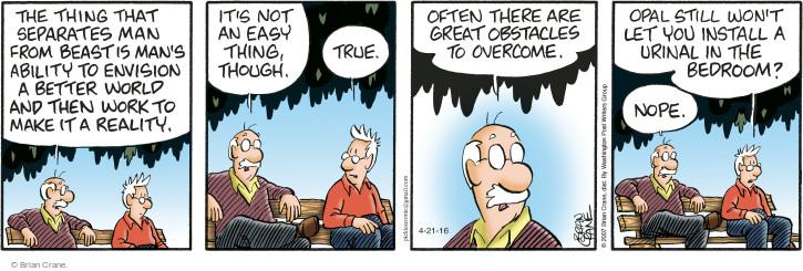 Comic Strip Brian Crane  Pickles 2016-04-21 reality