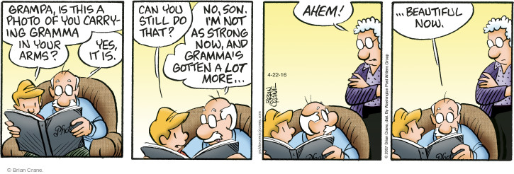 Comic Strip Brian Crane  Pickles 2016-04-22 ahem