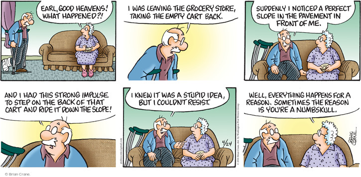 Comic Strip Brian Crane  Pickles 2016-04-24 grocery store