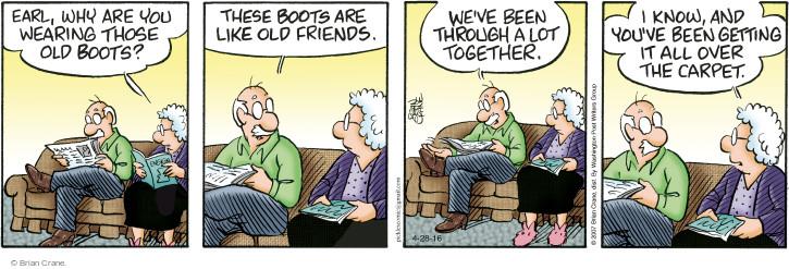 Comic Strip Brian Crane  Pickles 2016-04-28 get old