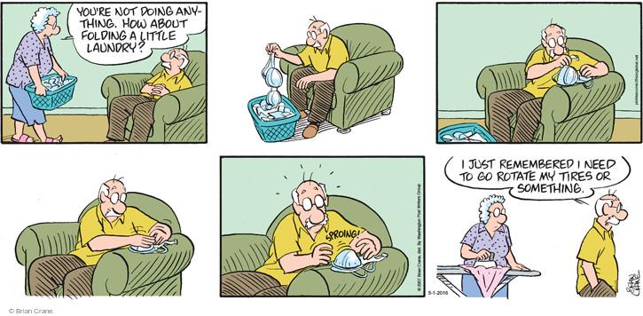 Comic Strip Brian Crane  Pickles 2016-05-01 underwear