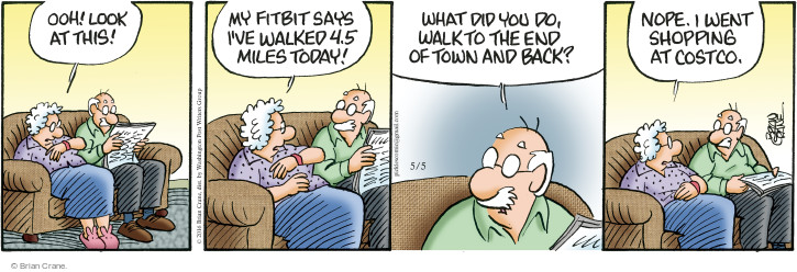 Comic Strip Brian Crane  Pickles 2016-05-05 Fitbit