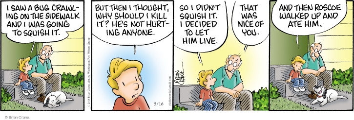 Comic Strip Brian Crane  Pickles 2016-05-16 squish