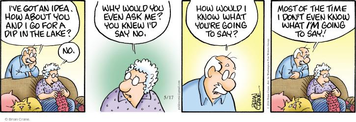 Comic Strip Brian Crane  Pickles 2016-05-17 unaware