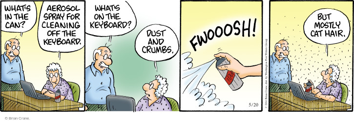 Comic Strip Brian Crane  Pickles 2016-05-20 fur