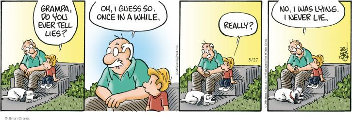 Comic Strip Brian Crane  Pickles 2016-05-27 deceptive