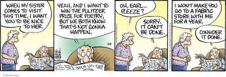 Comic Strip Brian Crane  Pickles 2016-06-08 agreement