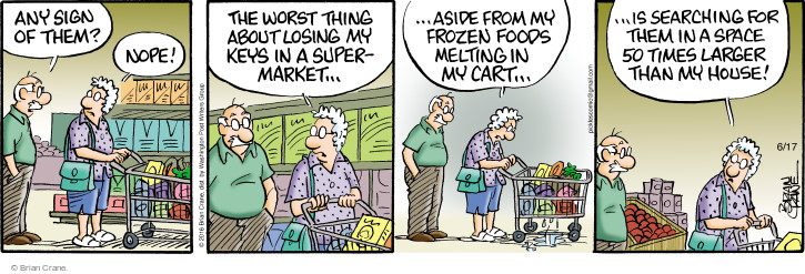 Comic Strip Brian Crane  Pickles 2016-06-17 grocery store