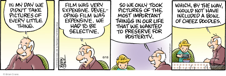 Comic Strip Brian Crane  Pickles 2016-06-18 generational