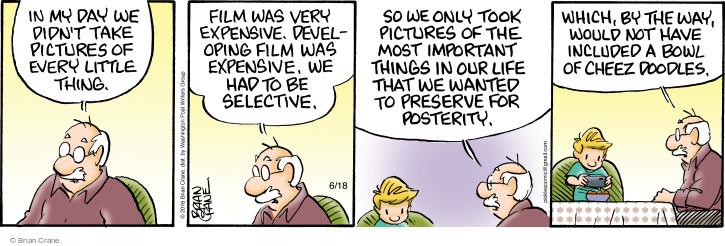 Comic Strip Brian Crane  Pickles 2016-06-18 generational