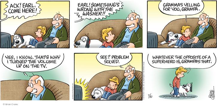 Comic Strip Brian Crane  Pickles 2016-07-10 solve