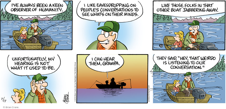 Comic Strip Brian Crane  Pickles 2016-07-17 not listening