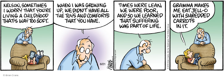 Comic Strip Brian Crane  Pickles 2016-06-21 childhood