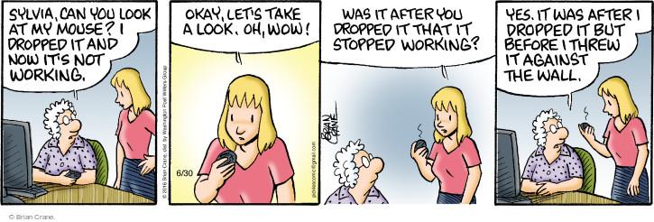 Comic Strip Brian Crane  Pickles 2016-06-30 part