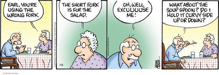 Comic Strip Brian Crane  Pickles 2016-07-05 etiquette
