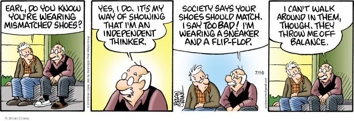 Comic Strip Brian Crane  Pickles 2016-07-16 society