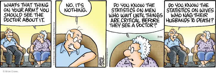 Comic Strip Brian Crane  Pickles 2016-07-11 medical