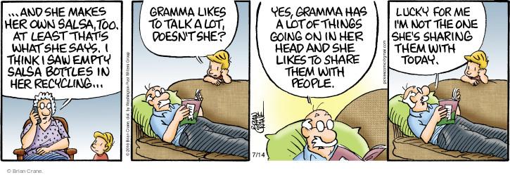 Cartoonist Brian Crane  Pickles 2016-07-14 lucky