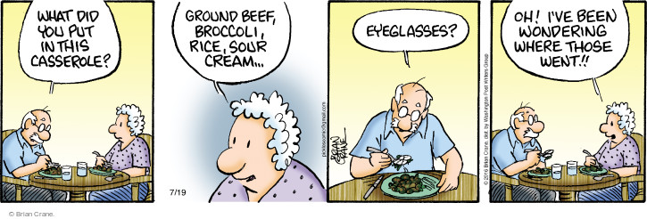 Comic Strip Brian Crane  Pickles 2016-07-19 eyeglasses