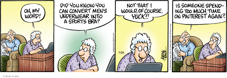 Comic Strip Brian Crane  Pickles 2016-07-25 yuck