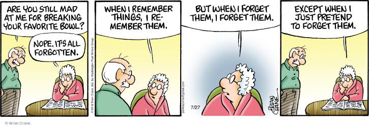 Comic Strip Brian Crane  Pickles 2016-07-27 pretend