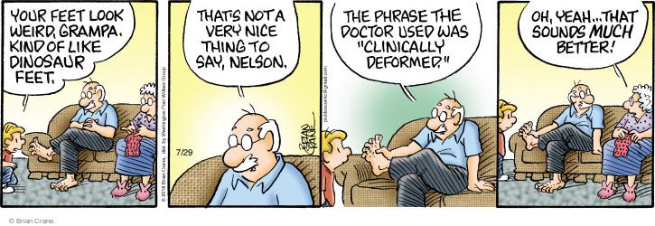 Comic Strip Brian Crane  Pickles 2016-07-29 doctor
