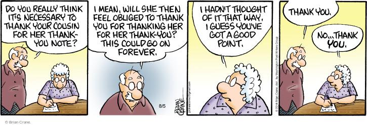 Comic Strip Brian Crane  Pickles 2016-08-05 forever