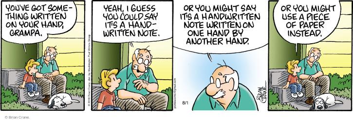 Comic Strip Brian Crane  Pickles 2016-08-01 memory
