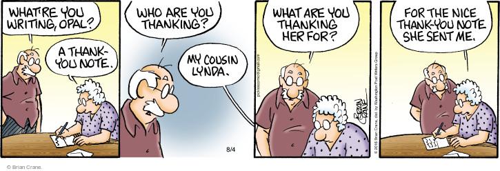 Comic Strip Brian Crane  Pickles 2016-08-04 letter