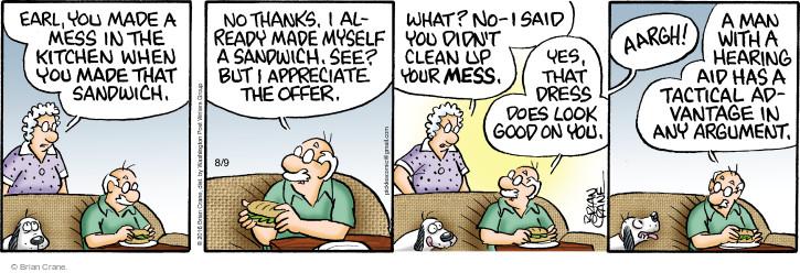 Comic Strip Brian Crane  Pickles 2016-08-09 argument