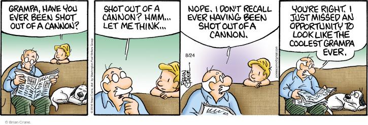 Comic Strip Brian Crane  Pickles 2016-08-24 grandson