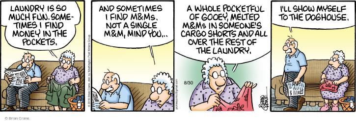 Comic Strip Brian Crane  Pickles 2016-08-30 launder